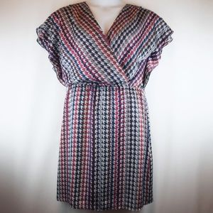 Antonio Melani Dress Multi Color Check Houndstooth